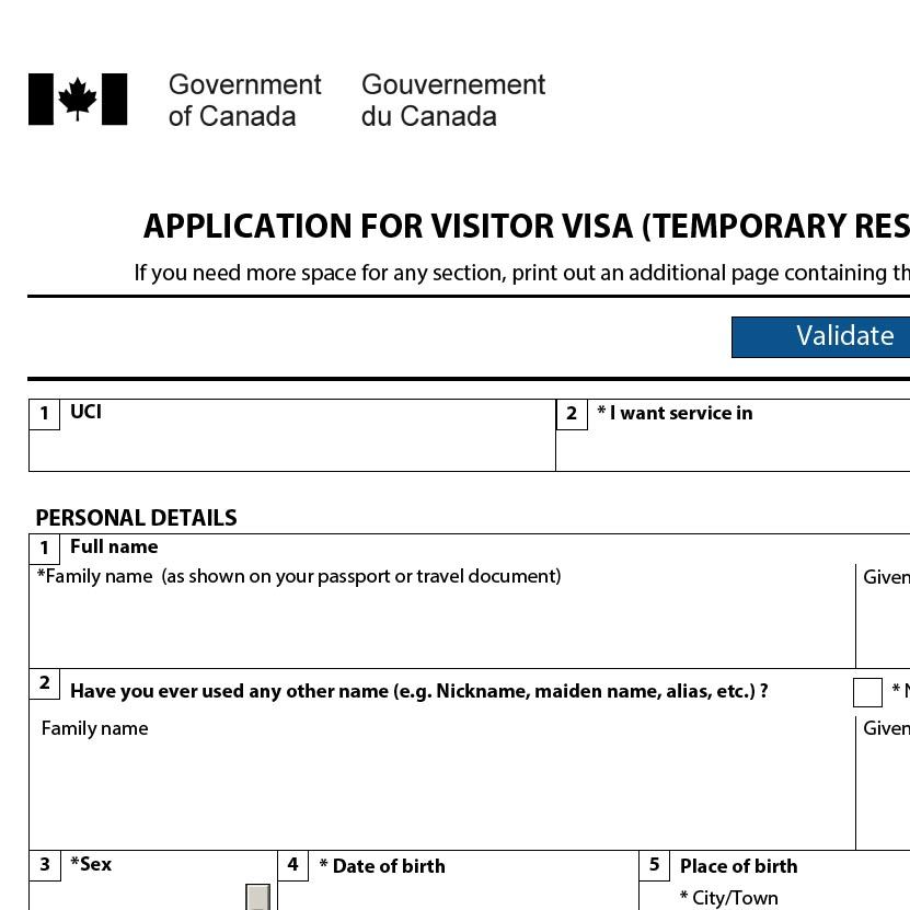 Canadian immigration Forms Filing Consultant